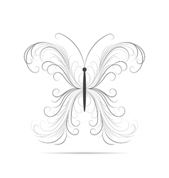 Beautiful swirl pattern in shape of a butterfly vector image vector image