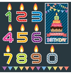 Birthday candle design vector image vector image