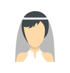 Bride icon flat style vector image vector image