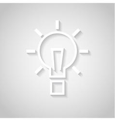 Bulb - paper cut design vector image