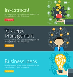 Flat design concept for investment strategic vector
