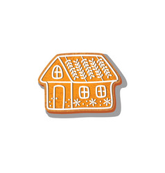 Gingerbread house cookie vector