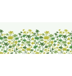 Green Plants Horizontal Seamless Pattern vector image