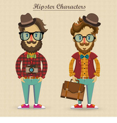Hipster characters vector image vector image
