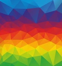 Horizontal rainbow spectrum polygon triangular vector
