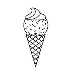 ice cream sundae dessert delicious cold vector image