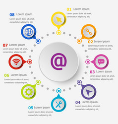 Infographic template with website icons vector