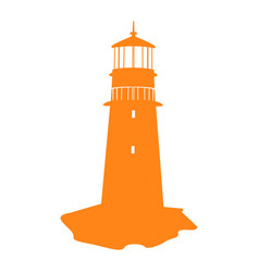 Isolated lighthouse silhouette vector