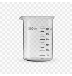 laboratory glassware or beaker vector image vector image