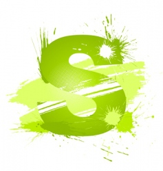 Letter S background vector image vector image