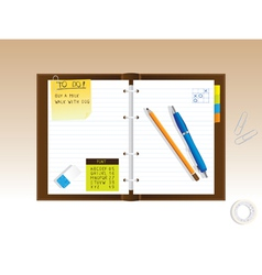 Personal diary vector image vector image
