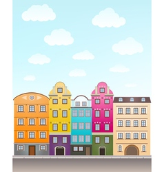 retro houses vector image