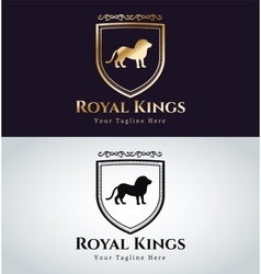 Royal logo lion silhouette vector image vector image