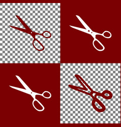 Scissors sign bordo and vector