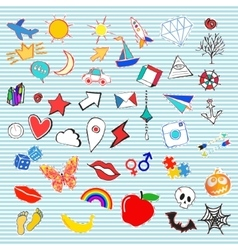 Set of fashion patches or badges vector image