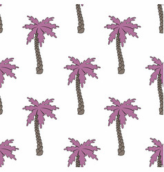 Stylized palm trees seamless background vector