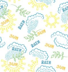 Sun rain pattern vector
