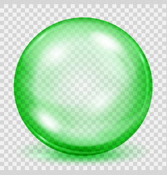 transparent green sphere with shadow vector image vector image