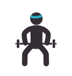 weight lifting equipment icon vector image