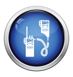 Police radio icon vector