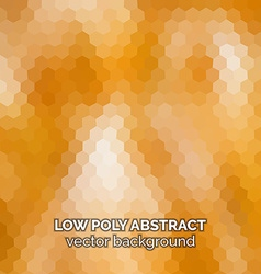 Low poly abstract background orange polygonal vector