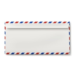 Backside of slightly opened DL air mail envelope vector image