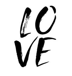 Love watercolor hand lettering modern brush vector