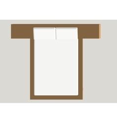 Home furniture - bed interior element bedroom vector