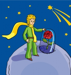 little prince vector image