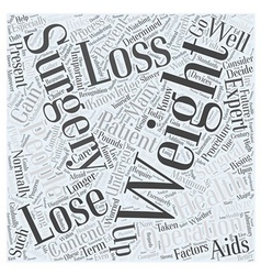 Weight loss surgery word cloud concept vector
