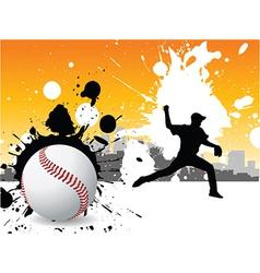 Graffiti baseball vector image