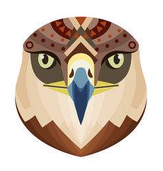 eagle head logo monkey decorative emblem vector image