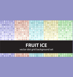 Polka dot pattern set fruit ice seamless vector
