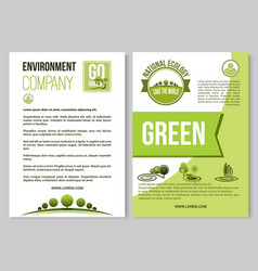 Poster for nature environment ecology vector