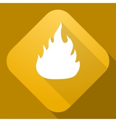 Icon of fire sign with a long shadow vector