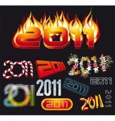 2011 set vector image