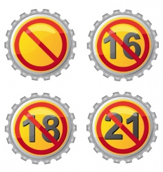 beer lids vector image