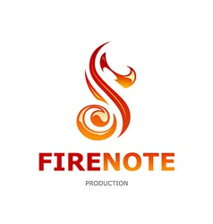 Fire note logo vector