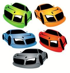 Cartoon style racing car vector