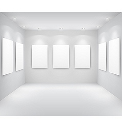 gallery interio vector image