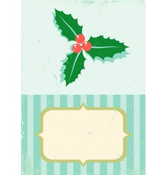 Retro of christmas plant vector