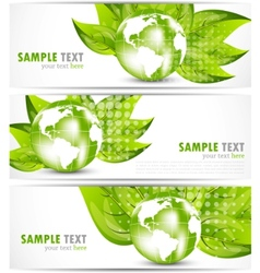 Set of banners vector