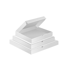 Empty white small boxes realistic vector