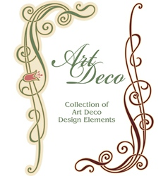 Art deco design element - corner vector