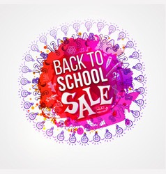 back to school sale circle splash vector image