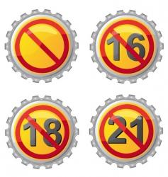 beer lids vector image vector image