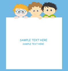 boys and frame vector image