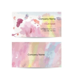 Business card template for your design watercolor vector