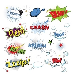 Comic colored speech bubbles in pop art style vector image