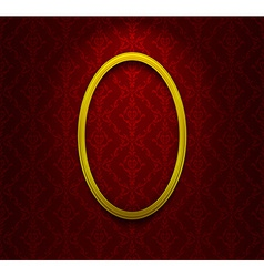 Elliptic frame on red wallpaper vector image vector image
